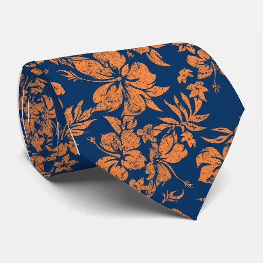 Lazo floral hawaiano de Pareau del hibisco Corbata Personalizada