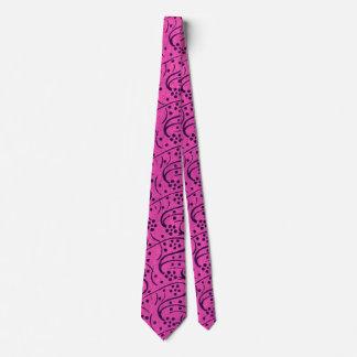 Lazo floral rosado oscuro del vintage corbata