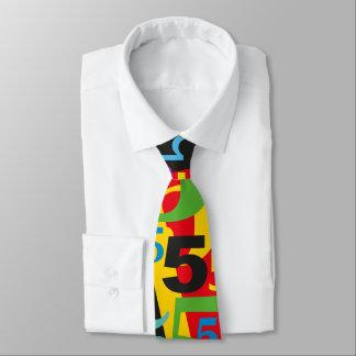 Lazo grande del número 5 para el 50.o o 55.o corbata