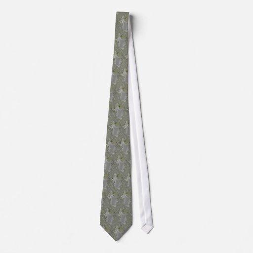 Lazo gris del arte del fractal del cordón corbata personalizada