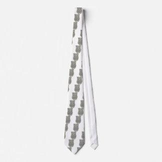 Lazo gris sabio lindo de la novedad del búho corbata personalizada