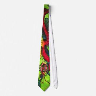Lazo iridiscente del dragón corbata