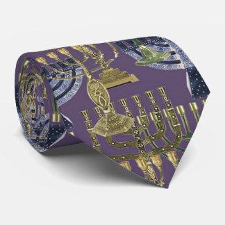 lazo judío 2 de Jánuca del menorah Corbatas