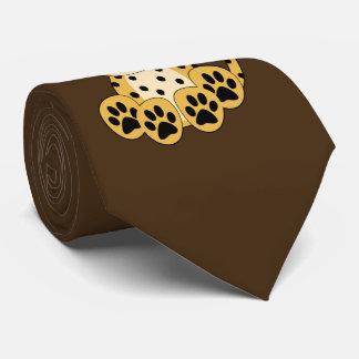 Lazo lindo del guepardo corbatas