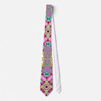 Lazo maravilloso de la moda colorida psicodélica d corbatas personalizadas