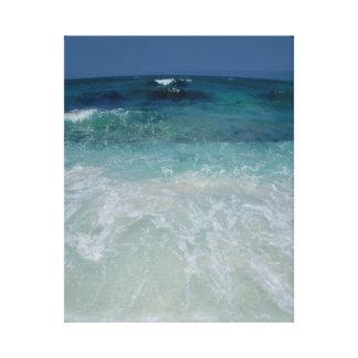 Lazo mexicano de la playa impresión de lienzo