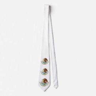 Lazo mexicano del escudo de armas corbatas
