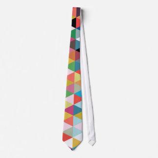 Lazo modelado caleidoscopio geométrico colorido corbata