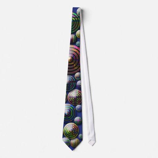 Lazo modelado colorido del fondo azul de los círcu corbata