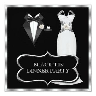 Lazo negro blanco formal del fiesta de cena comunicados