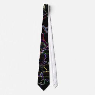 Lazo negro con los modelos coloridos corbatas