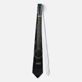 Lazo negro de la música de la guitarra acústica corbatas