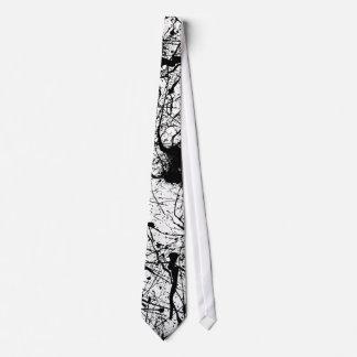 Lazo negro de la salpicadura corbatas