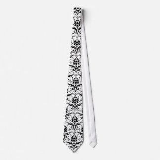 Lazo negro del diseño del damasco corbata