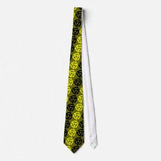 Lazo negro del parte movible 45 del amarillo de corbata personalizada