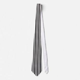 Lazo, negro y gris de las rayas verticales corbatas
