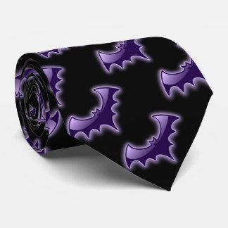 Lazo negro y púrpura de los palos del ala de la corbatas personalizadas