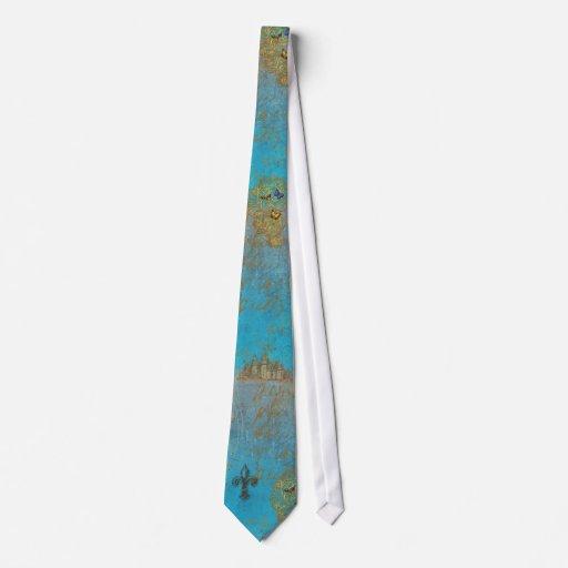 Lazo para hombre del castillo francés de la flor d corbata