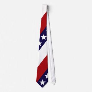 Lazo patriótico de las barras y estrellas corbata