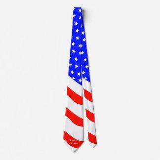 Lazo patriótico de las barras y estrellas corbatas personalizadas