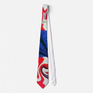 Lazo patriótico del remolino de la bandera corbata