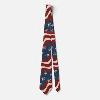 Lazo patriótico inspirado vintage de las barras y corbata