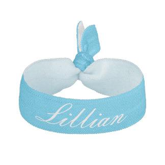 Lazo personalizado azul del pelo de la fiesta en elásticos para el pelo