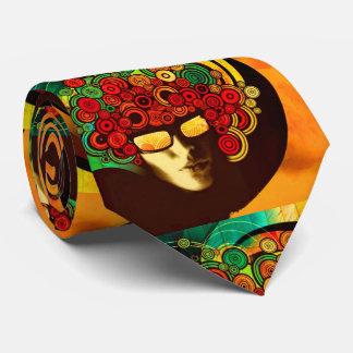 lazo psicodélico del arte pop corbata personalizada