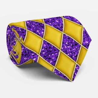 Lazo púrpura del carnaval del modelo de la corbata personalizada