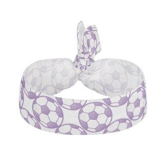 Lazo púrpura del pelo de los balones de fútbol de gomas de pelo