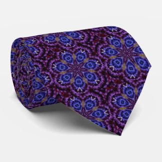Lazo púrpura y azul del mosaico de medianoche corbata