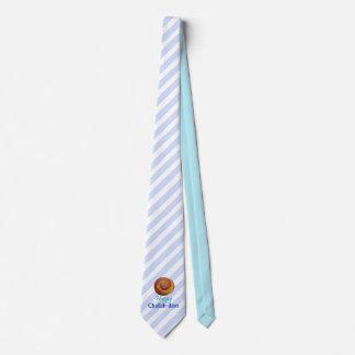 Lazo rayado azul claro de los Jalá-días felices Corbatas