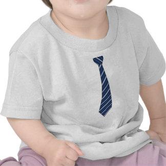 Lazo rayado azul falso divertido camiseta