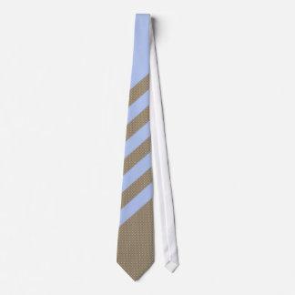 Lazo rayado texturizado Brown azul claro elegante Corbatas Personalizadas