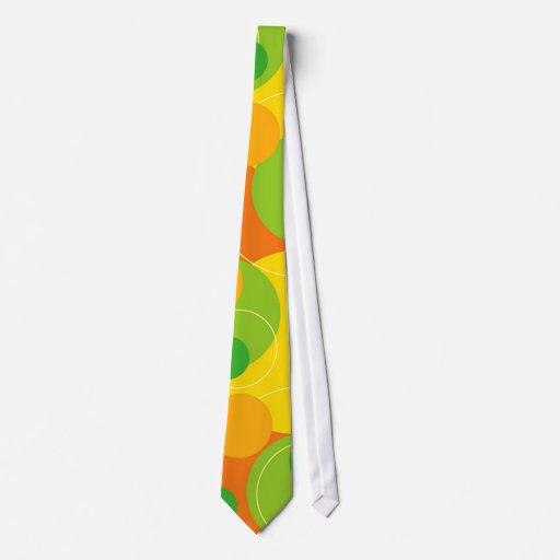 Lazo retro de la fruta cítrica corbata