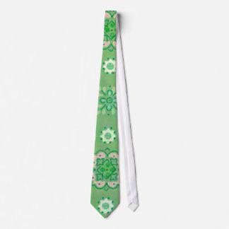 Lazo retro de la verde menta de las flores corbatas