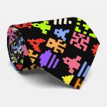 Lazo retro del videojugador de la arcada del pixel corbatas personalizadas