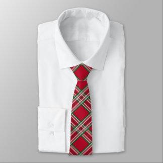 Lazo rojo de la tela escocesa del día de fiesta corbata fina