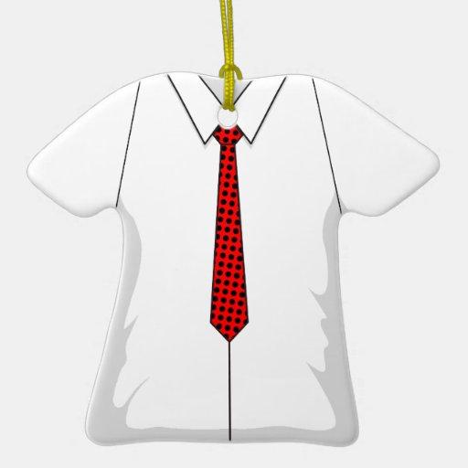 Lazo rojo de los puntos de la camisa de vestir ornamentos de reyes