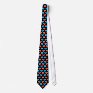 Lazo rojo del azul de cielo profundo y de los cora corbatas personalizadas