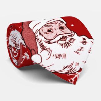 Lazo rojo ruidoso divertido del navidad de Santa Corbatas