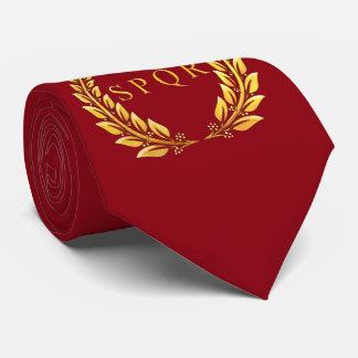 Lazo romano del laurel de SPQR Corbata Personalizada