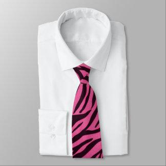 Lazo rosado de la moda del estampado de zebra corbatas
