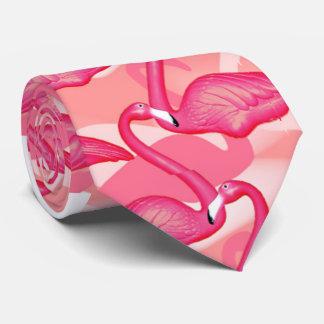 lazo rosado del flamenco corbatas personalizadas