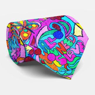 lazo salvaje de los colores del amor de los años corbatas