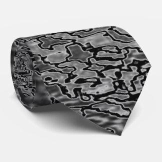 Lazo stiped Grayed negro del monograma Corbata