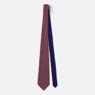 Lazo tejado bandera del modelo de la zambullida corbata personalizada