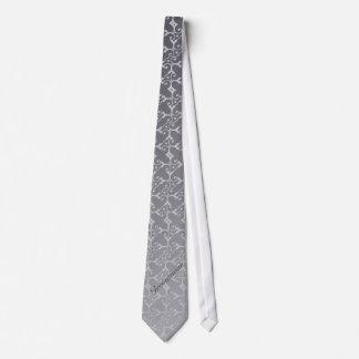 Lazo tonal del PADRINO DE BODA de la plata de la e Corbata Personalizada