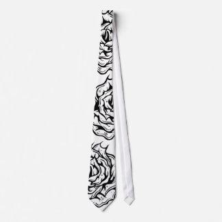 Lazo único del diseño de los rosas negros corbatas