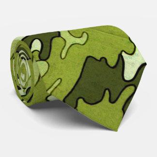 Lazo verde de Camo Corbatas Personalizadas